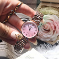 2016 New Arrival Fashion Women Watches Stainless Steel Strap Band Women Dress Watches Rose Gold case hot selling clocks