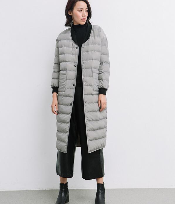 Green 2017 Noir gris Veste Collection Femmes Manteau Avec Rembourré army Femme Rond Col D'hiver Coton Chaud Printemps aAaWp6Onr