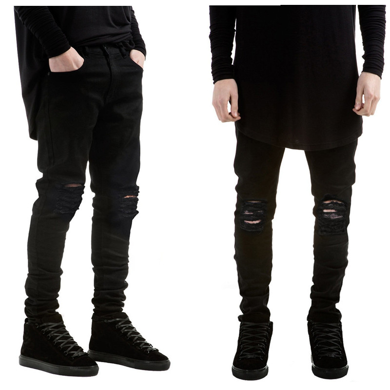 Online Get Cheap Ripped Black Skinny Jeans -Aliexpress.com ...