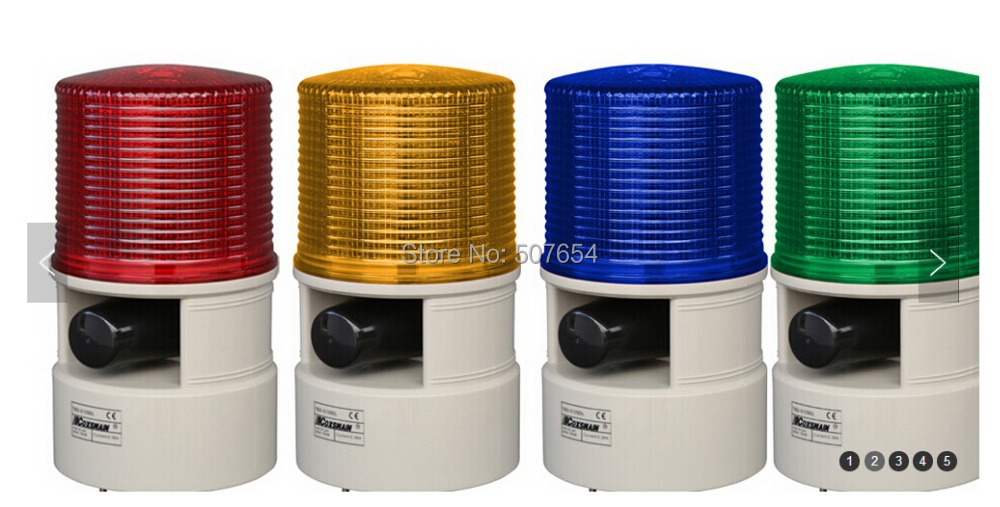 Alarme sonore et visuelle étoile supérieure deux en un (lumières d'avertissement stroboscopiques à led 10 W + haut-parleur 40 W) alarme sonore et lumineuse pour voiture, machine