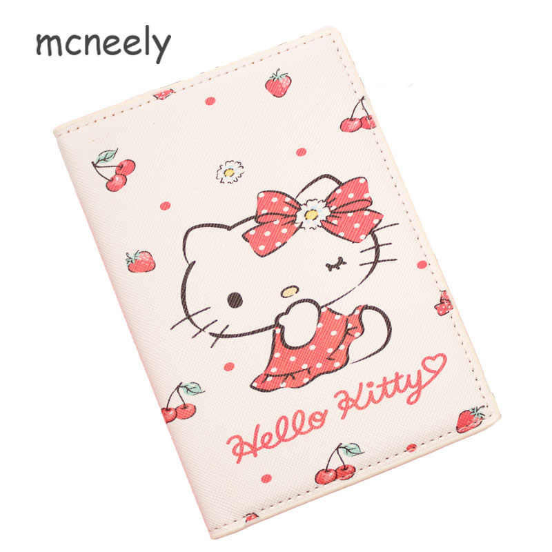 aa2a50e98 Cute HELLO KITTY Women Travel Passport Cover Wallet Travelus Multifunction  Credit Card Package ID Holder Plane
