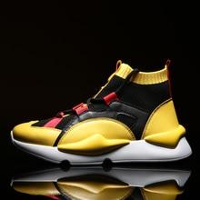 2019 спортивные кроссовки Для мужчин брендовый носок кроссовки на шнуровке Дышащие Беговые кроссовки мужской Мальчик Прохладный прогулочная обувь