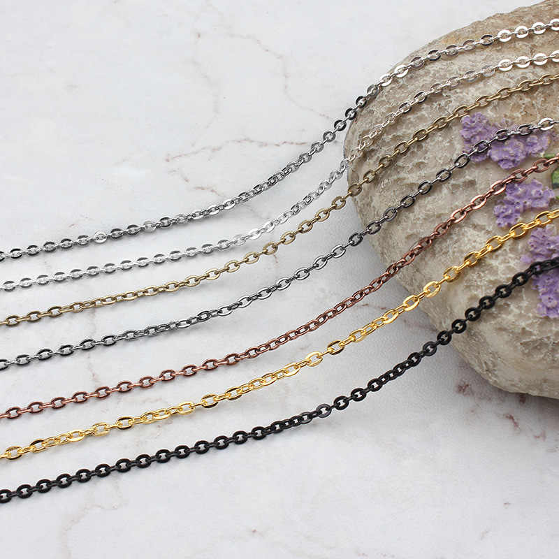5meter/ package width 2.3mmTrendyTiny cross chain Pendant NecklaceWomenPlated Chain Lover Lady Girl Gifts Bijoux Fashion Jewelry