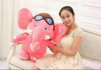 Volo Pilota disegno del fumetto grande 75 cm pink elephant peluche molle che abbraccia cuscino, regalo di natale h834
