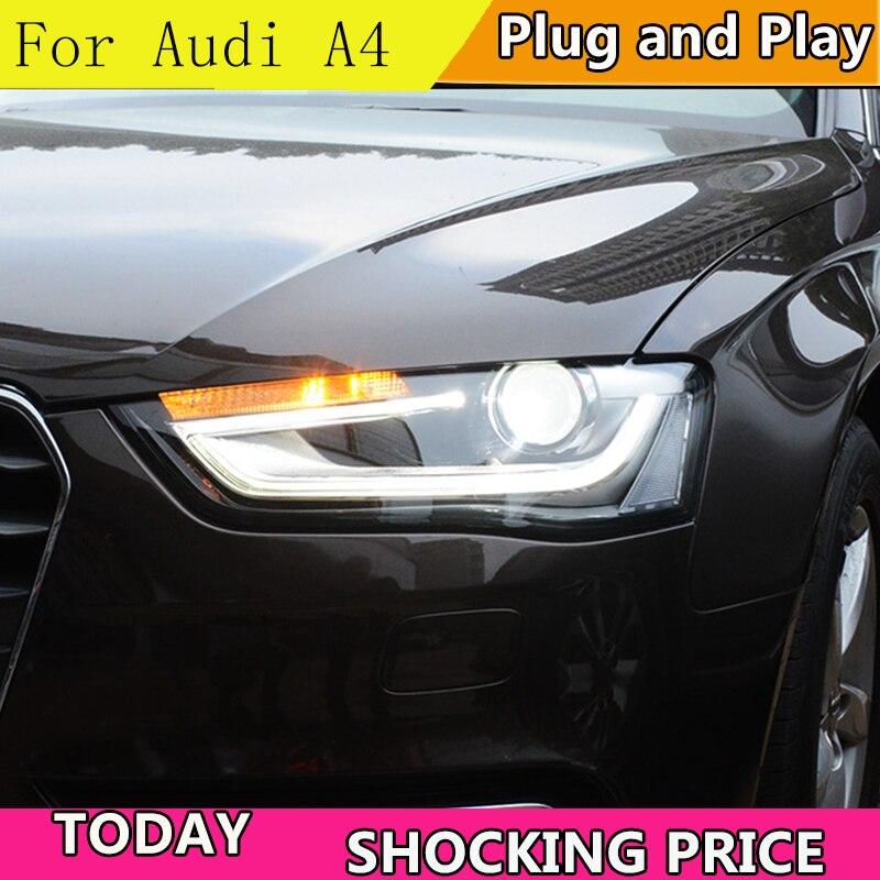 doxa Car Styling for Audi A4 2014 2015 Headlights High Configuration A4 B9 LED DRL Lens