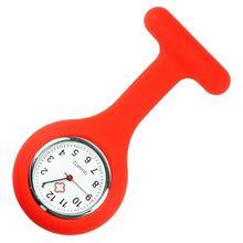 Сестринское Медицинская Висит Часы Шаблон Обычный Силиконовые Медсестра Fob Часы Броши Туника Смотреть