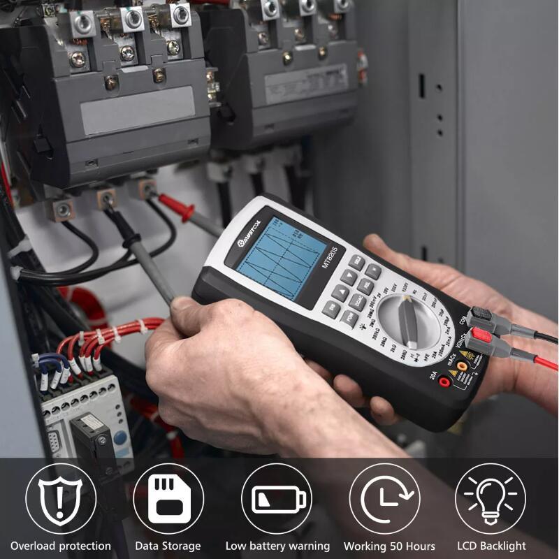 Testeur de Diode de fréquence de résistance de tension de courant ca/cc de multimètre d'oscilloscope de stockage tenu dans la main Intelligent numérique 2 en 1