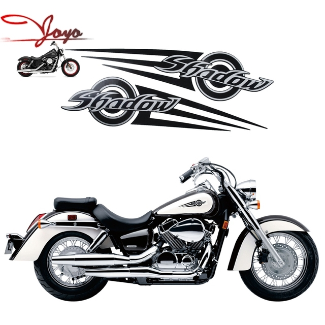 moto vintage style decal stickers gas tank autocollants