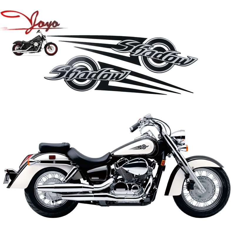 motorcycle vintage style decal gas tank decals stickers for honda shadow vt 125 nv400 vt600. Black Bedroom Furniture Sets. Home Design Ideas