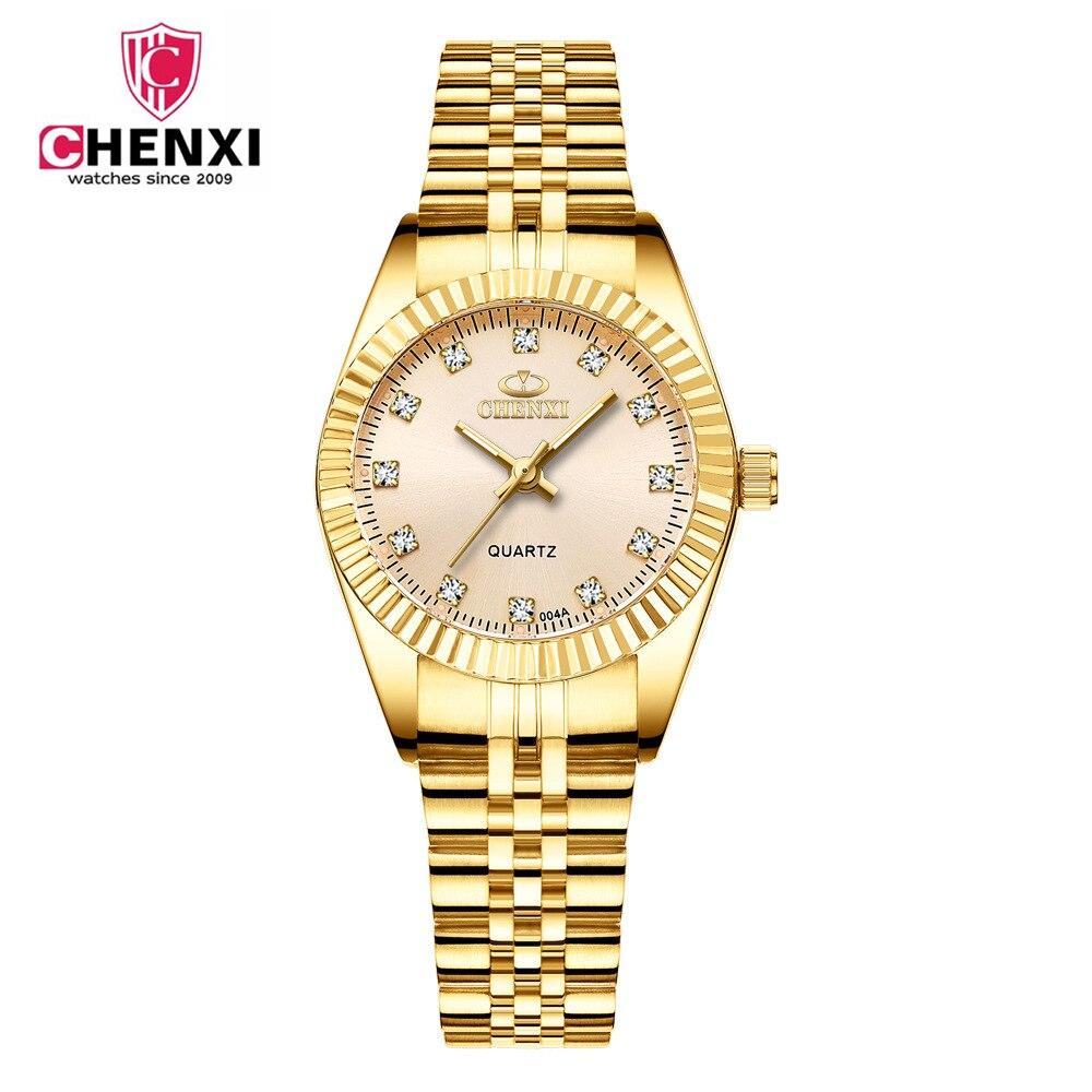 ae1d19e1a85 Comprar Relógios De Ouro Das Mulheres Quartzo Senhoras Marca Top Big ...