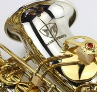 Lowest Price High Quality White Copper Gold Key Alto Saxophone With Mouthpiece Gloves Case Alto Eb