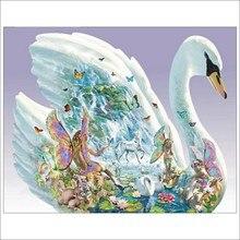 Алмазная живопись 5D «сделай сам» полный квадратный Алмазная вышивка Лебедь продажи вышивка крестиком костюм горный хрусталь мозаика украшения сада T027