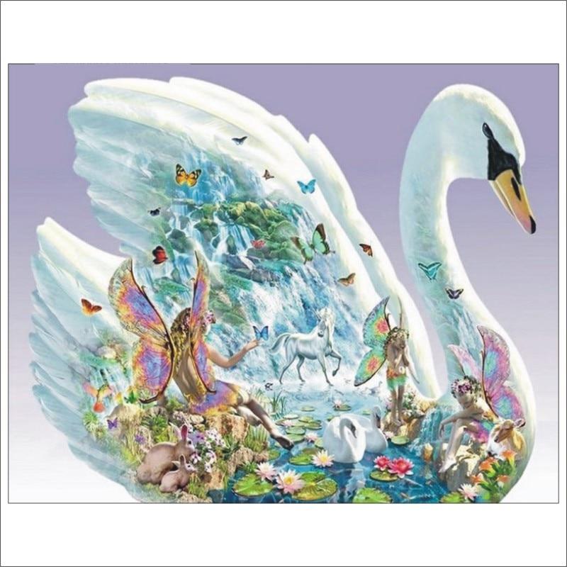 5D DIY diamond painting full square swan diamond embroidery sale cross stitch suit rhinestone mosaic garden decoration T027