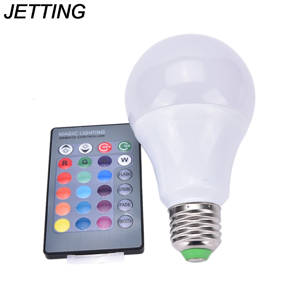 E27 Dimmable RGB LED Light Color 5-265V Garden Decor Party Christmas Supplies Changing Bulb With Remote Control 8