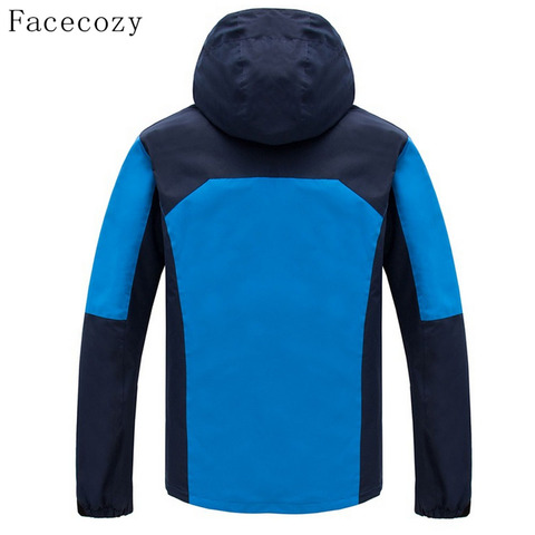 Facecozy Men Winter Outdoor Thick Fishing Softshell Jackets Breathable 2 Pieces Windproof Camping Coat Karachi