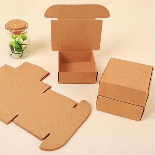 45 Sizes small gift kraft paper packaging box, brown paper cardboard gift boxes for packaging, handmade soap jewelry box 5PCS