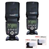 2pcs Yongnuo YN560 IV Wireless Speedlite for Canon Nikon Pentax Olympus DSLR Camera Flash 600D K7 D7000 D3000 560TX RF605