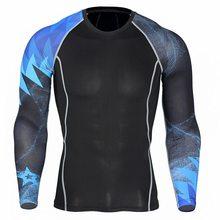 Новая спортивная быстросохнущая одежда мужская футболка для бега эластичная тренировочная компрессионная одежда