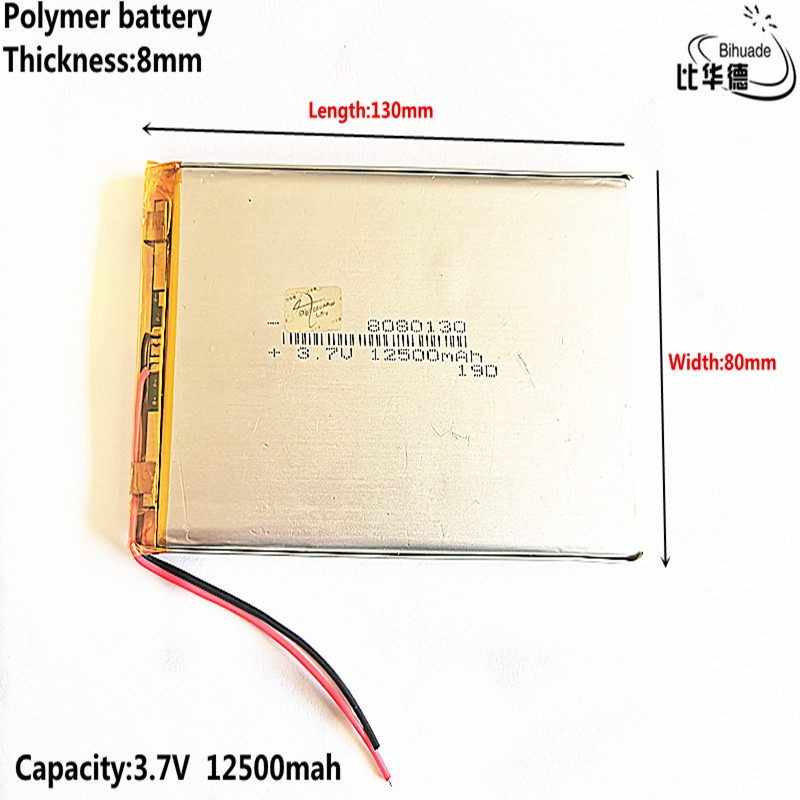 3.7V 12500mAh 8080130 Lithium Polymer Battery MP3 MP4 Navigation Instruments Small Toys And Other Products Universal Battery