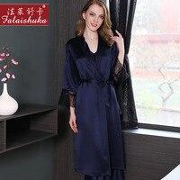 19 Муми тяжелые натуральная шелковые халаты Новинка; для женщин 100% шелк пижамы Для женщин пикантные элегантные спальный халат кимоно S5510