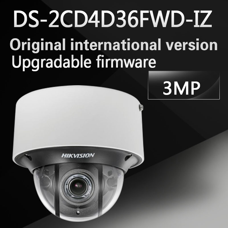 Free shipping DS-2CD4D36FWD-IZ English version 3 MP Low Light Smart Dome Camera 6 behavior analyses