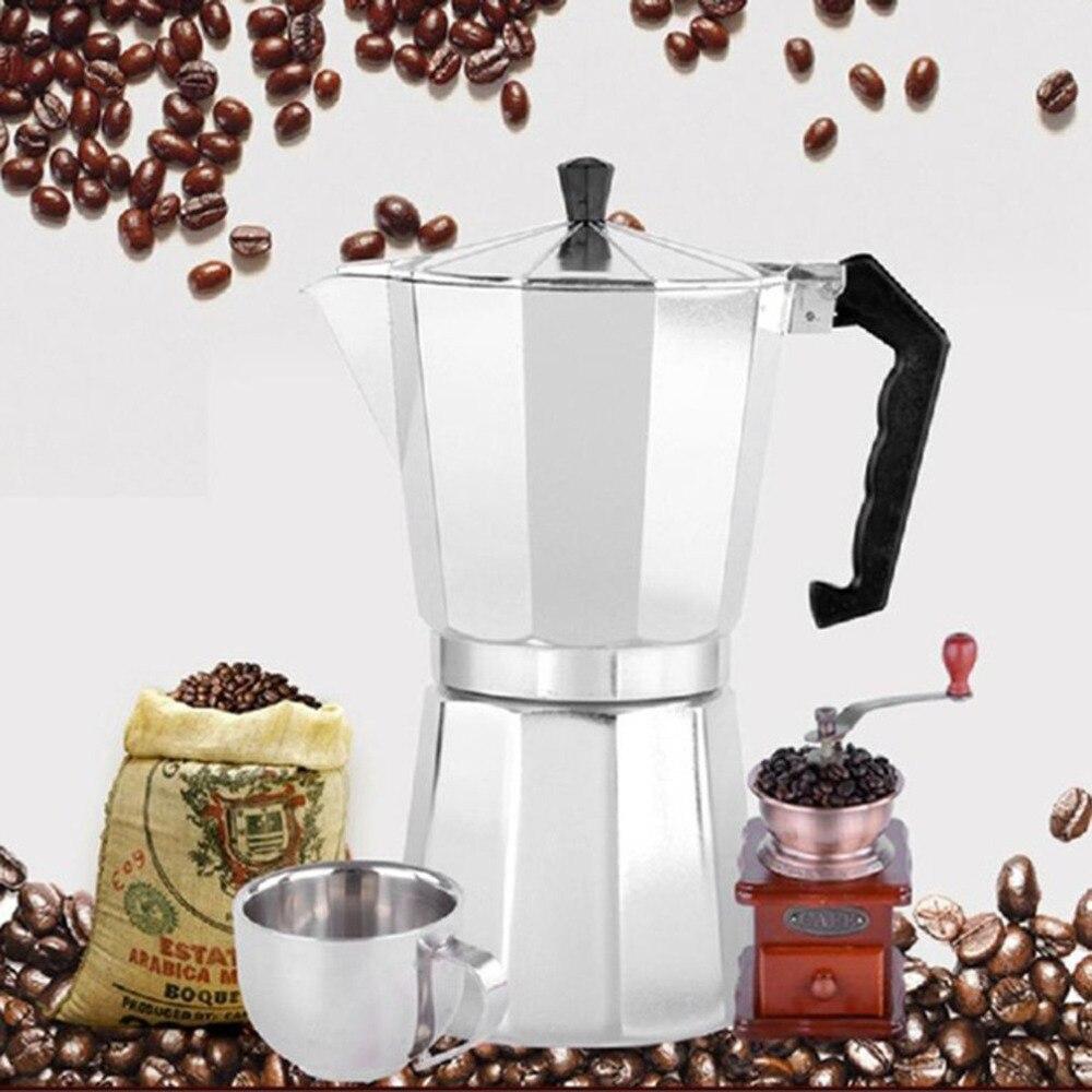 Aluminum 8-Angle Moka Pot Espresso Stove Top Coffee Maker Moka Espresso Cup Continental Moka Percolator Pot 3cup/6cup стоимость