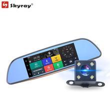 """7.0 """"IPS Visión Nocturna Dual de la Lente de Espejo Retrovisor de la Cámara DVR Del Coche WiFi 3G GPS DashCam Multifuncional Conducción Cámara Grabadora de Vídeo"""