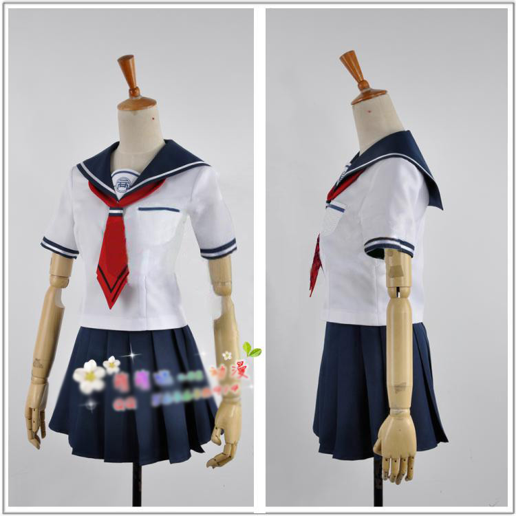 Danganronpa Another Episode Uniform Skirt Cosplay Naegi Komaru Costume With Sock