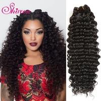 Shireen Diepe Golf Braziliaanse Haar Weave Bundels Natuurlijke Kleur Remy Human Hair Extensions 8-28 inch 1 Stuk Gratis verzending kan buy3/4