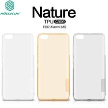 For Xiaomi Mi5 Case Original Nillkin Nature TPU Silicon Soft Back Cover for Xiaomi M5 Phone Shell White Gray Gold + Screen Film