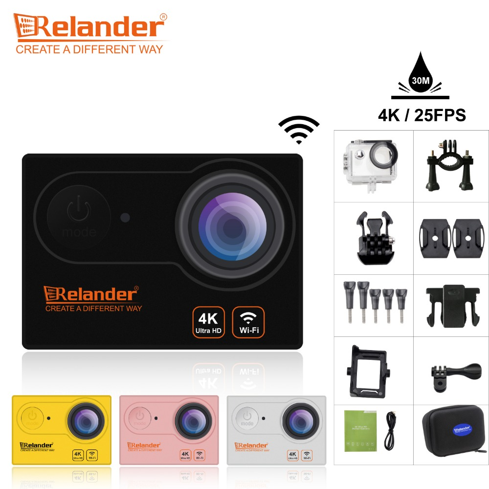 цена 2018 Crelander R9/R9R Ultra HD 4K 25fps Action Camera Wifi Waterproof Sport Cam 2.0