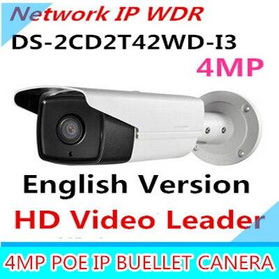 Дальность ИК 30м 4МП IP веб-камера PoE камерой видеонаблюдения с разрешением 1080p IP-камер МПК ДС-2CD2T42WD-i3 и заменить ДС-2CD2232-i5 с ДС-2cd2232 ДС-2cd2232-i5 с ДС я