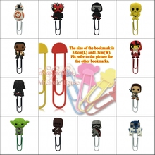 1pcs Hot Movie Star War Cartoon bookmark holder metal paper clip Book marks Office Supplies Stationery promotion party gifts