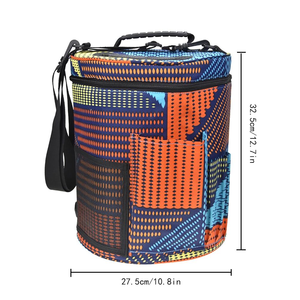 Yarn Case Yarn Storage Knitting Yarn Bag Big Capacity Women Home Crochet Hooks Thread Yarn Storage Bag DIY Sewing Kit Bag colo