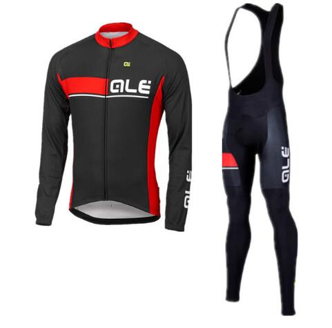 2017 new ALE long-sleeved riding suit suit autumn thin section long-sleeved bike sportswear pants mens bicycle clothing