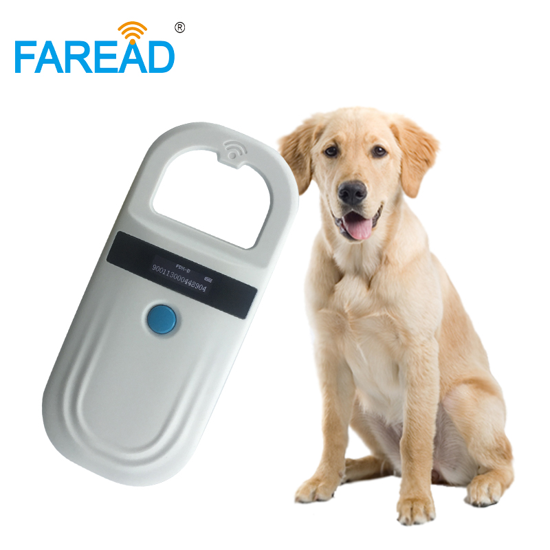Low Price Free shipping rechargeable battery portable RFID microchip reader  FDX-B pet chip scanner