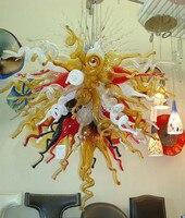 Бесплатная доставка AC светодиодные замечательный многоцветный Стекло Книги по искусству китайские люстры