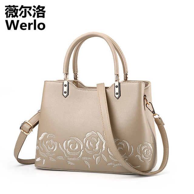 Werlo Brand Luxury Handbags Women Bags Designer New Chinese Style Las Bag Totes Fashion Leather Shoulder