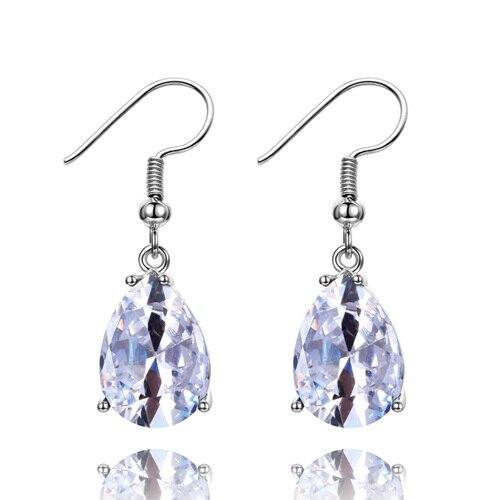 34179a4b8f6 Dropwow 925 Sterling Silver Drop Earrings for Women 10x14MM Water ...