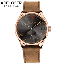 Luxury AGELOCER Wristwatch Brand Mechanical role Watch Gold plated Self-Winding Military Fossiler Automatic Auto Date Watch Men