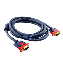 3+9 VGA Cable VGA to VGA Cable Male to Male Black Braided Shielding High Premium HDTV For PC laptop TV BOX Projector VGA Line