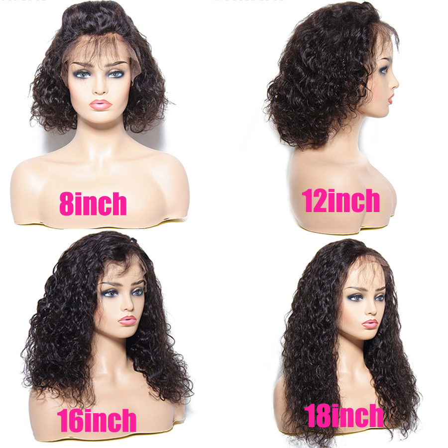 Sunber Water Wave Lace Front Human Hair Wig 8 18 Inch.Brazilian Remy Human Hair 13 X4 Lace Front Wigs Pre Plucked For Black Women  by Sunber