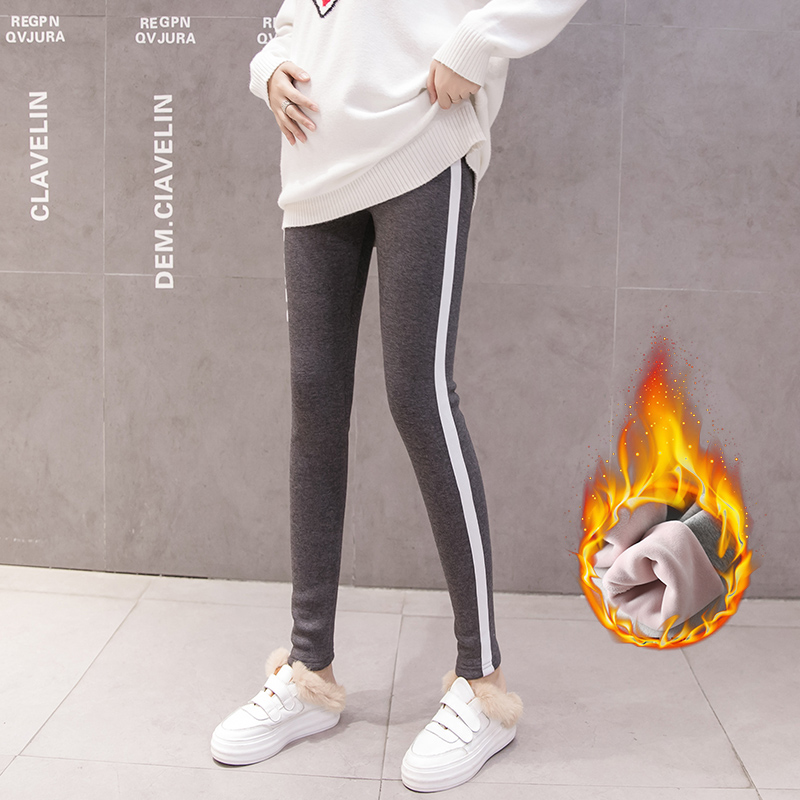 Hot sale Maternity Winter warm leggings Pregnant Woman velvet Underpant Support Abdominal Pregnancy Women Tighten long Pants