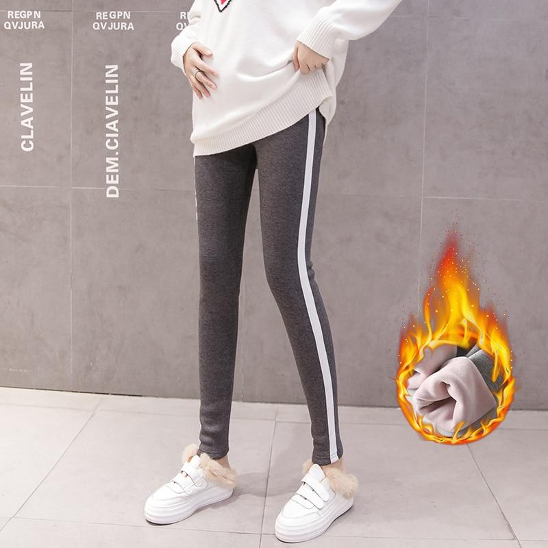Hot sale Maternity Winter warm leggings Pregnant Woman velvet Underpant Support Abdominal Pregnancy Women Tighten long Pants