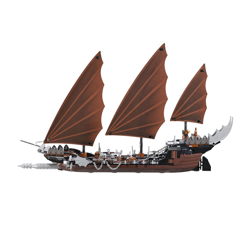 M 16018 806pcs lord of rings Series Ghost Pirate Ship Set building blocks bricks toy for children Compatible Legoe 79008 lepin movie series ghost pirate ship 16018 756pcs building block for children toys 79008 compatible legoe pirate ship