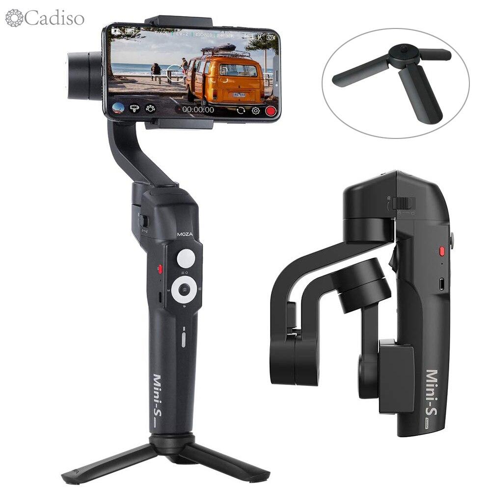 Stabilisateur vidéo de Smartphone à cardan 3 axes pliable Cadiso Mini S pour iPhone XS XR X 8 Plus 8 7 P 7 téléphone Samsung S9 S8 S7