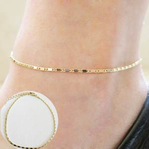 Accessory Anklet Bracelet Jewelry Link-Chain Gold-Silver-Plated Women Gift for Street-Style