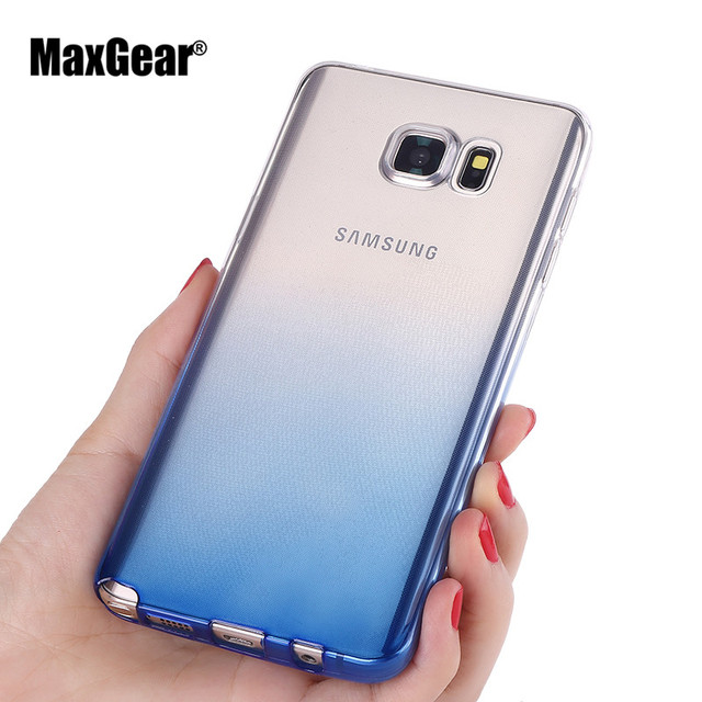 Ultra thin Soft TPU Clear Case for Samsung Galaxy Note 3 Note 4 Note 5  Note 7 transparent Gradient Cover Back Shell Capa