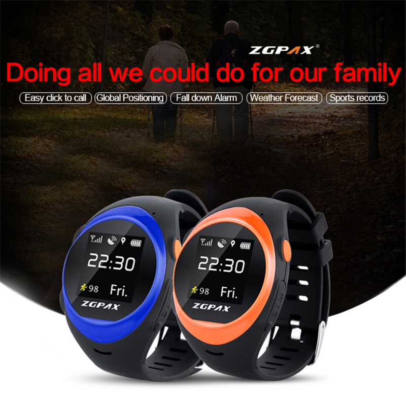 ФОТО ZGPAX X83 Bluetooth Waterproof Smart Watch MTK2503D Elder SOS GPS Tracking WIFI Smartwatch Anti-lost Alarm For iOS Android Phone