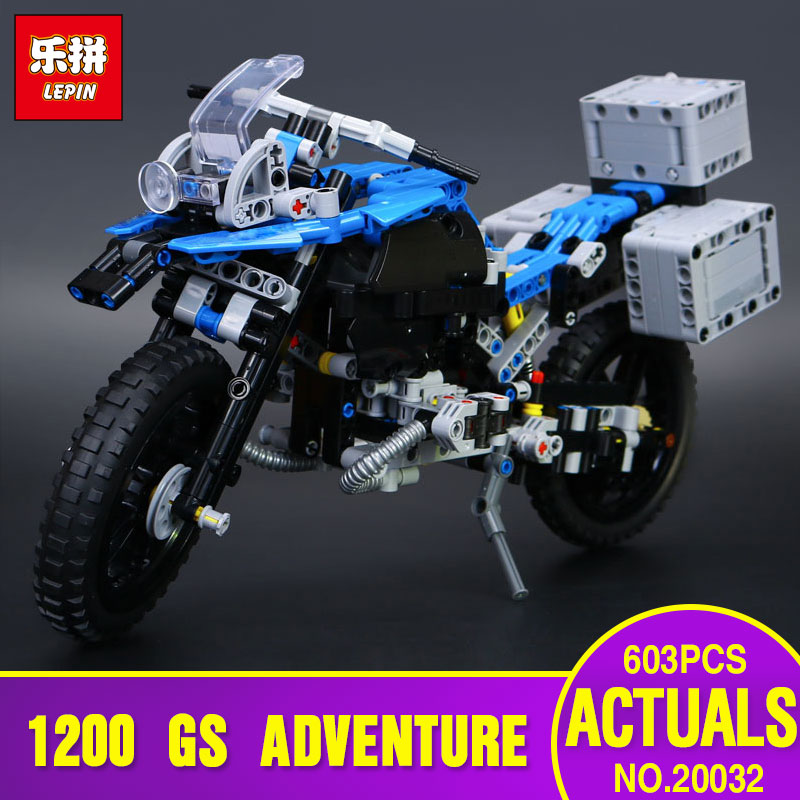 Lepin 20032 603pcs Technic Series The BAMW Off-road Motorcycles R1200 GS Building Blocks Bricks Educational Toys 42063 lego technic конструктор приключения на bmw r 1200 gs 42063